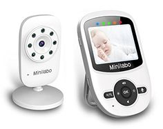 Video Baby Monitor, Minilabo Wireless Baby Camera Monitors 2.4inch Screen with Temperature Monitoring Night Vision,Two Way Talk and Long Range Features - $79.99