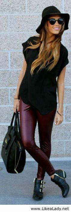 Wine leggings