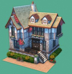 Sims 3 Houses Ideas, Sims 4 Houses, Sims Ideas, Sims 4 Anime, Sims 4 House Plans, Sims 4 House Design, Casas The Sims 4, Model House Plan, Medieval Houses