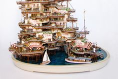 """Bonsai Buildings"" Add Magical Model Houses To An Ancient Artform"