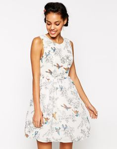 Traffic People Birds of a Feather Prom Dress