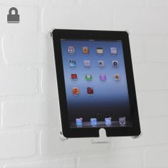 Mount your ipad on a wall. Rotates and tilts. Lockable for security
