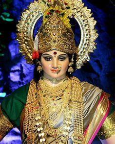 Indian Goddess, Mother Goddess, Goddess Lakshmi, Maa Durga Photo, Maa Durga Image, Durga Images, Lakshmi Images, Gauri Decoration, Durga Ji