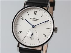 Classic Rodina Automatic Wrist Watch OEM by Sea-Gull Movement Arabic White Dial Bauhaus Watch Fine Watches, Watches For Men, Wrist Watches, Men's Watches, Bauhaus Watch, Bauhaus Style, Affordable Watches, Gull, 316l Stainless Steel