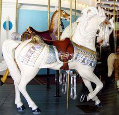 National Carousel Association ~ Eldridge Park Carousel, Eldridge Park, Outside Row Stander (New Carving)
