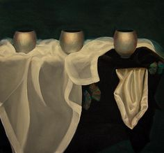 Petra Reece Still Life with Three Vessels - 2013 Oil on linen 61 x 66 cm Petra, Still Life, Oil On Canvas, Ballet Shoes, Paintings, Artist, Fashion, Ballet Flats, Moda