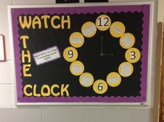 Time management bulletin board! Clock with different tips where the numbers would be! #reslife