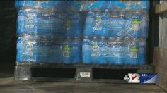 They came to the Vehicle City Saturday with two large trucks filled with water donations to be dropped off at Catholic Charities.