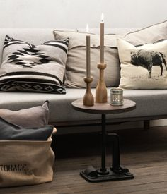 Wooden Candlesticks Product Detail | H&M US