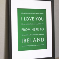 From here to Ireland.