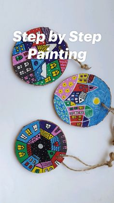 Cd Crafts, Diy Crafts For Kids, Art For Kids, Arts And Crafts, Rock Painting Patterns, Rock Painting Designs, Stone Art Painting, Art N Craft, Pebble Art
