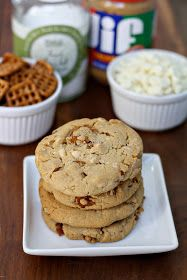dinner or dessert: salted white chocolate, pretzel and peanut butter cookies