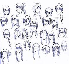 how to draw hairstyles | 24 girls hairstyles by matsudakeiko manga anime digital media drawings ...