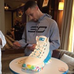 Steph Curry Sneaker Cake