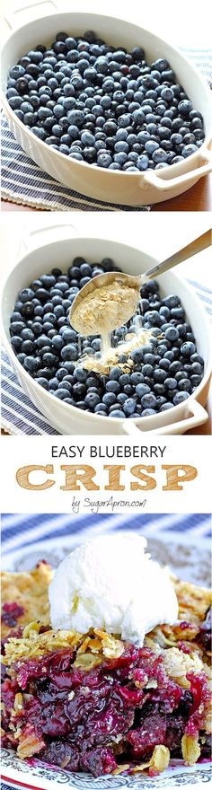 Is there any better way to enjoy blueberries than easy blueberry crisp recipe? Get your fix of delicious blueberries and have this for breakfast or dessert!