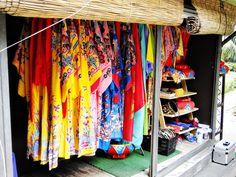 Kimonos at Ryukyu Mura  Okinawa, Japan