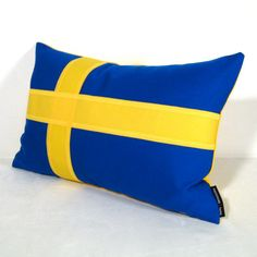 Sweden Flag Pillow Cover Outdoor Cushion Decorative by Mazizmuse Sunbrella Fabric, Outdoor Cushions, No Sew Pillow Covers, Decorative Pillow Covers, Pillow Inserts, Sweden Flag, Flag Decor, Landscaping With Rocks