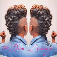 The Diva Lounge Hair Salon Larnetta Moncrief Montgomery Alabama - Modern Dope Hairstyles, My Hairstyle, Creative Hairstyles, Curly Mohawk Hairstyles, Love Hair, Gorgeous Hair, Pretty Hair, Curly Hair Styles, Natural Hair Styles