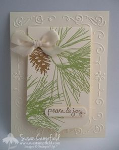 2014 Ornamental Pine Clear-Mount Stamp Set	135107 Price: $18.95, Good Greetings Clear-Mount Stamp Set 135017 $17.00, Party Pennants Bigz L Die	133732 $32.95 , Filigree Frame Textured Impressions Embossing Folders	135818 $7.95, Window Word Punch 119857 $15.95