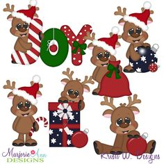 Christmas Joy Reindeer SVG-MTC-PNG plus JPG Cut Out Sheet(s) Our sets also include clipart in these formats: PNG & JPG