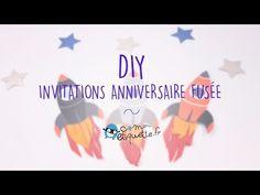 DIY : Nos invitations d'anniversaire fusée pour une fête d'anniversaire géniale !