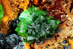 underthescopemin:  Adamite  Photo Copyright © Stephan Wolfsried Locality: Hilarion Mine (Hilarion adit; Hilarion Mine No. 50), Hilarion area, Kamariza Mines (Kamareza Mines), Agios Konstantinos [St Constantine] (Kamariza), Lavrion District Mines, Lavrion District (Laurion; Laurium), Attikí Prefecture (Attica; Attika), Greece