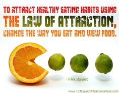 """""""To attract healthy eating habits using the Law of Attraction, change the way you eat and view food."""""""