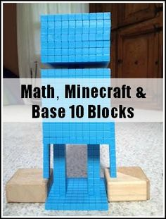 My daughter recently discovered that base 10 blocks are perfect for recreating Minecraft structures, people and animals in real life.  She made this discovery while playing with the blocks as a par...