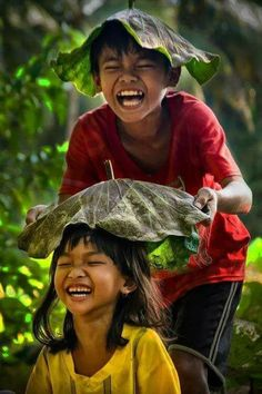 Laughing together..