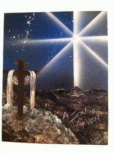 Christmas spray paint art