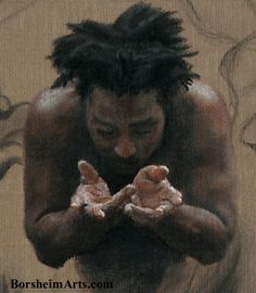 Kelly Borsheim [detail of male figure drawing]