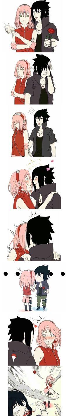 Sakura x Charasuke Anime Naruto, Comic Naruto, Naruto Sasuke Sakura, Naruto Shippuden Anime, Otaku Anime, Manga Anime, Sasusaku Doujinshi, Naruhina, Boruto