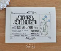 Vintage-look wedding invite