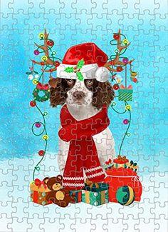 English Springer Spaniel Dog in Snow Jigsaw Puzzle, Christmas, 1000 Pieces Jigsaw Puzzle PrintYmotion #English Springer Spaniel #Dog Lovers gift #Christmas Gift #Christmas Puzzle Lovers Gift, Gift For Lover, Dog Lovers, Christmas Puzzle, Christmas Ornaments, Love Challenge, Snow Dogs, English Springer Spaniel, Spaniel Dog
