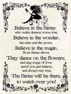 Words and poems about the magic of fairies                                                                                                                                                     More