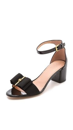 trudy block heel sandals / tory burch