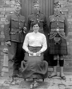 World War 1 in Scotland…. This fine highland lady with her family, the older gentleman is her husband…the other two lads are her sons
