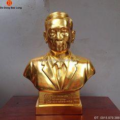 Tượng Chân Dung Cụ Ông Bằng Đồng 42cm - Đồ đồng Bảo Long