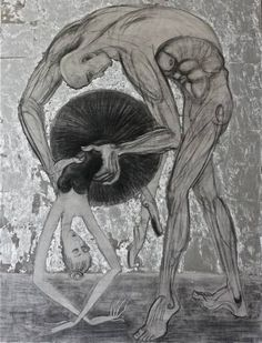 "Saatchi Art Artist Elizabete Melbarzde; Drawing, ""Tandem"" #art"