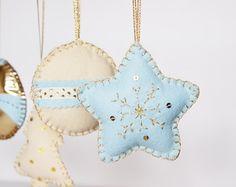 Christmas home decorations. Christmas tree ornament- set of 5 - home decor