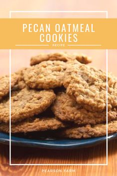 Take an afternoon baking break and make some for dessert tonight. We've got the perfect (easy) pecan cookie recipe waiting for you. Pecan Cookie Recipes, Pecan Cookies, Oatmeal Cookies, Georgia Pecans, Stick Of Butter, Toffee, Fall Recipes, Cookie Dough, Candies