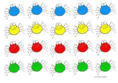 Kleurenspel spinnen
