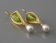 Chris Carpenter - Cosima Jewelry - Peridot and pearls