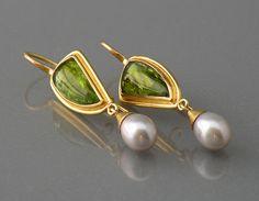 Chris Carpenter - Cosima Jewelry - Peridot and pearls