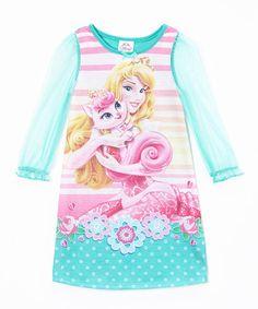 ca20c9ed5ed7 Disney Princess Teal Aurora Palace Pets Long-Sleeve Nightgown - Toddler.  Disney NightgownsDisney GirlsBaby ...