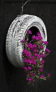 DIY handmade pots with tires