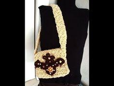 CROCHET A SQUARE HIPPIE BAG, bohemian purse, satchel.