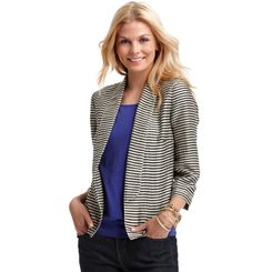 LOFT - Totally obsessed with their stripe jacket!