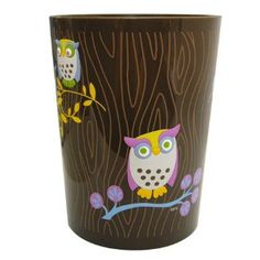 Amazon.com: Allure Home Creations Awesome Owls Printed Plastic Wastebasket: Home & Kitchen