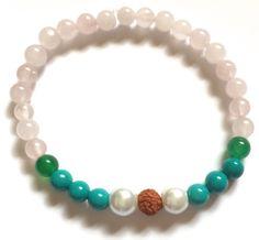 Vegan Gratitude Power Bracelet with White Tara Charm
